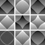 Modelos reticulares Efecto óptico convexo y cóncavo ilustración del vector