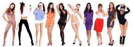 10 modelos 'sexy' Imagem de Stock Royalty Free