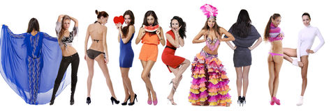 10 modelos 'sexy' Imagens de Stock Royalty Free