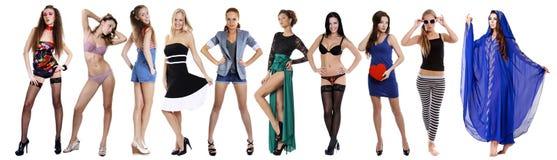 10 modelos 'sexy' Imagem de Stock