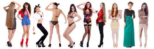 10 modelos 'sexy' Fotografia de Stock