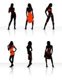 Modelos 'sexy' ilustração royalty free