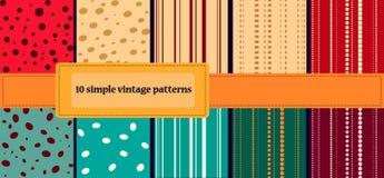10 modelos simples del vintage Imágenes de archivo libres de regalías