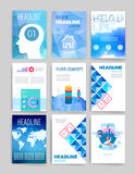 modelos Sistema del diseño del web, correo, folletos Fotos de archivo libres de regalías