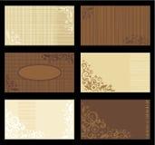 Modelos, tan y marrón de las tarjetas de visita Imagen de archivo