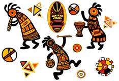 Modelos tradicionales africanos del vector Foto de archivo libre de regalías