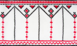 Modelos tradicionales ucranianos del bordado Imágenes de archivo libres de regalías