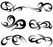 Modelos tribales abstractos del tatuaje Imágenes de archivo libres de regalías