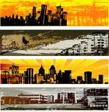 Modelos urbanos de la bandera del Web stock de ilustración