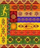 Modelos y ornamentos étnicos ilustración del vector