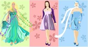 Models. Girls in fashionable cloth. stylish, beautiful, fashionable, free Stock Image