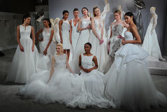 Models appear at A Toast To Tony Ward: A Special Bridal Collection Royalty Free Stock Image
