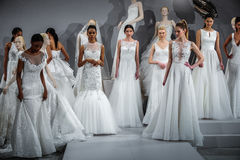 Models appear at A Toast To Tony Ward: A Special Bridal Collection Stock Photography