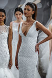 Models appear at A Toast To Tony Ward: A Special Bridal Collection Royalty Free Stock Photography
