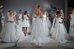 Models appear at A Toast To Tony Ward: A Special Bridal Collection Stock Images