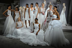 Models appear at A Toast To Tony Ward: A Special Bridal Collection Royalty Free Stock Photos