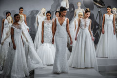 Models appear at A Toast To Tony Ward: A Special Bridal Collection Stock Photo