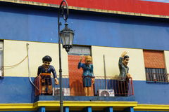 Models in Caminito, La Boca, Buenos Aires Stock Image