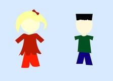 Models of children's images stock illustration