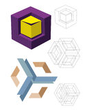 Models cubes Royalty Free Stock Image