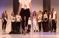 Models Düsseldorf Airport Fashion Show Stock Image