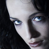 Models dark Portrait. A model portrait in the studio stock photos