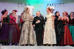 Models and designer Slava Zaitsev Stock Images