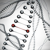 Models of the dna molecule royalty free illustration