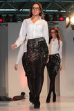 models Düsseldorf Airport Fashion Show Stock Photo