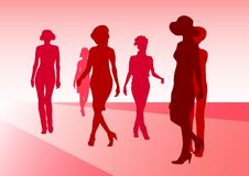Models of fashion Royalty Free Stock Image