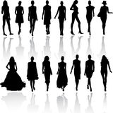 Models on fashion runaway Royalty Free Stock Image