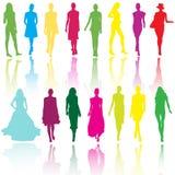 Models on fashion runaway Stock Photography