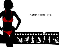 Models on filmstrip. Red fashion Royalty Free Stock Photography