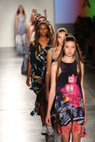 Models from HC walk at DSW Sponsors Gen Art 20th Anniversary Fresh Faces In Fashion Runway Spring 2016 Stock Image