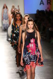 Models from HC walk at DSW Sponsors Gen Art 20th Anniversary Fresh Faces In Fashion Runway Spring 2016 Stock Photography