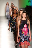 Models from HC walk at DSW Sponsors Gen Art 20th Anniversary Fresh Faces In Fashion Runway Spring 2016 Stock Photo