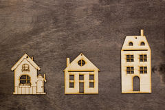 Models of houses with different number of storeys Stock Photos