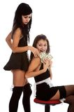 Models in maid clothes Stock Image
