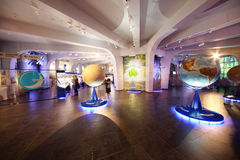 Models of planets in Planetarium Royalty Free Stock Photos