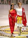 Models on podium Royalty Free Stock Photos