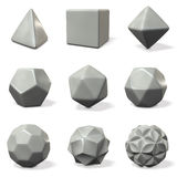 Models of polyhedron. rounded chamfer. Stock Photos