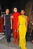 Models pose backstage before Ozgur Masur show Stock Images
