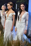 Models pose during the Galia Lahav Bridal Fashion Week Spring/Summer 2017 presentation Royalty Free Stock Images