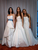 Models pose at the Henry Roth Bridal Spring 2016 Collection presentation Stock Photos