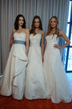 Models pose at the Henry Roth Bridal Spring 2016 Collection presentation. NEW YORK, NY - APRIL 22: Models pose at the Henry Roth Bridal Spring 2016 Collection Royalty Free Stock Photography