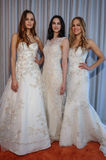 Models pose at the Michelle Roth Bridal Spring 2016 Collection presentation Royalty Free Stock Photo