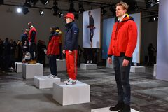 Models pose at the Nautica Fall 2017 presentation Stock Photography