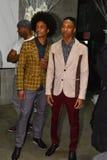 Models posing backstage at the ANTINOO Menswear FALL 2017 Metamorphosis Collection Stock Image