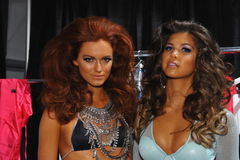 Models posing backstage at the Beach Bunny fashion show during MBFW Swim 2015 Royalty Free Stock Photo