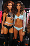 Models posing backstage at the Beach Bunny fashion show during MBFW Swim 2015 Stock Photo